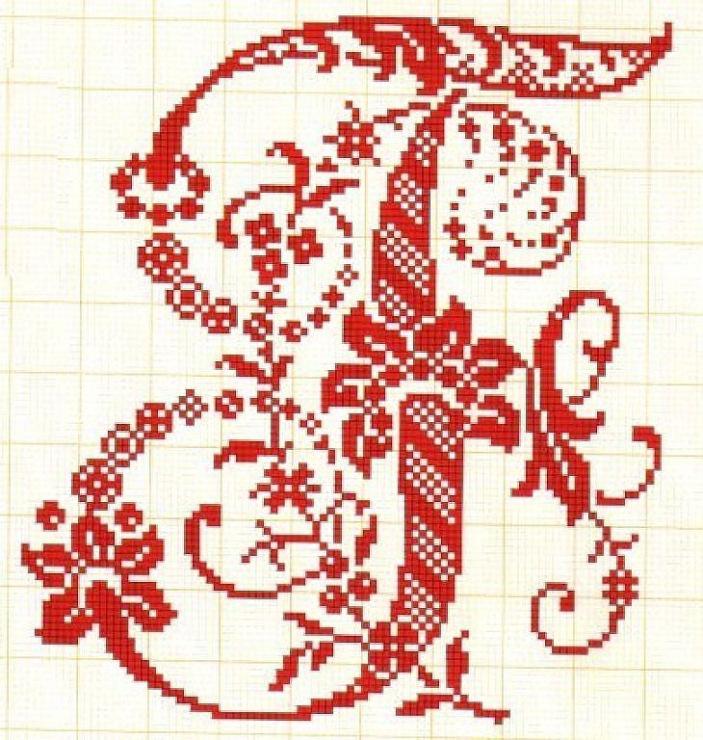 Вышивка крестом буква г