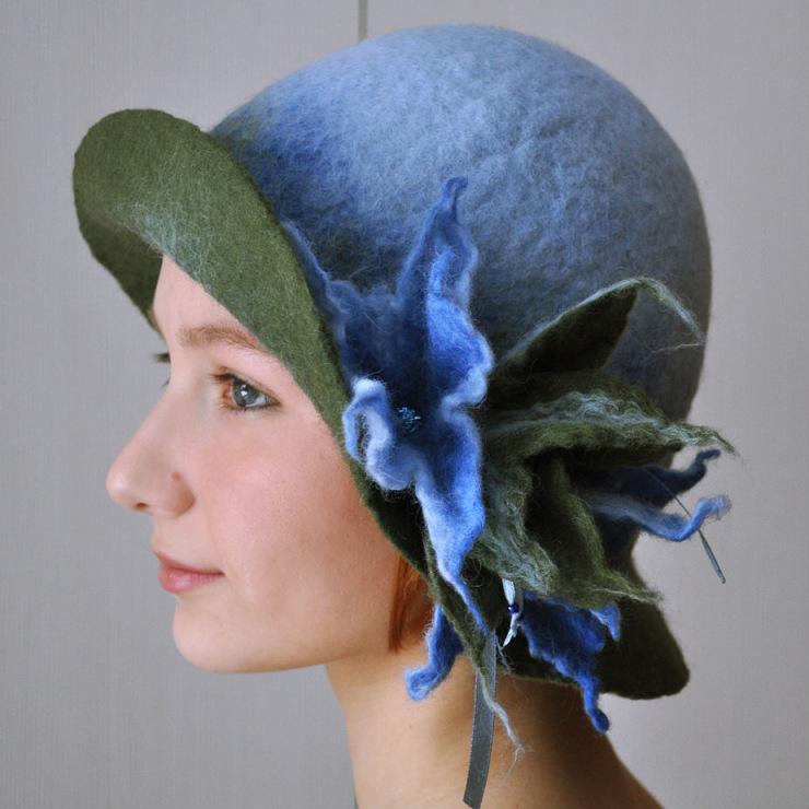 Валяние шляпы из шерсти шляпы