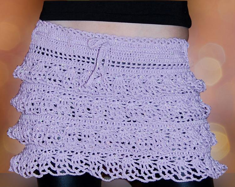 Вязание юбки крючком видео-уроки 37