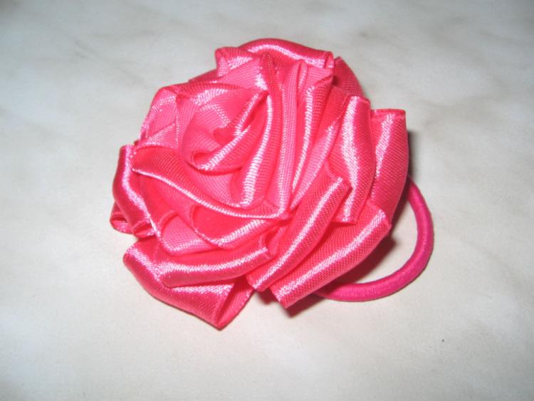 Розы для волос своими руками