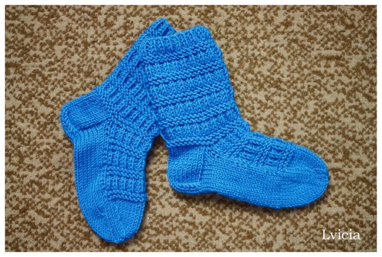 Связать носки спицами для мальчика