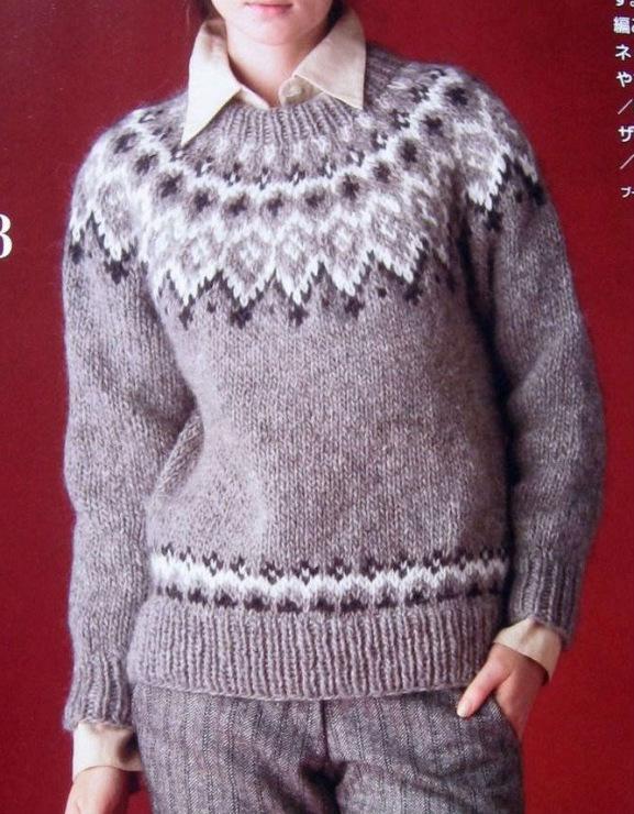 Пуловер С Жаккардовой Кокеткой С Доставкой