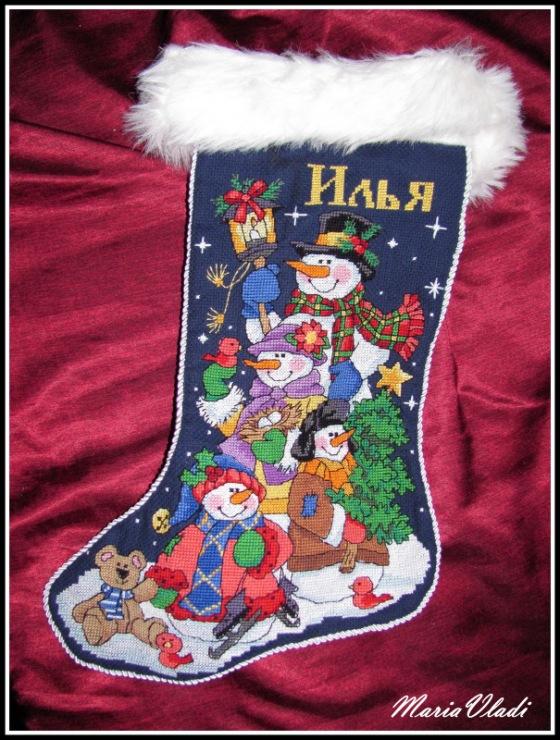Вышивка для новогоднего сапожка 39