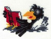 Вышивки крестом схемы ворона 67