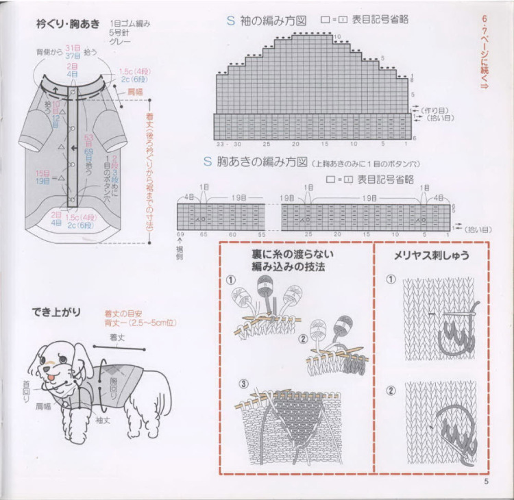 Как связать кофту маленькой собачке