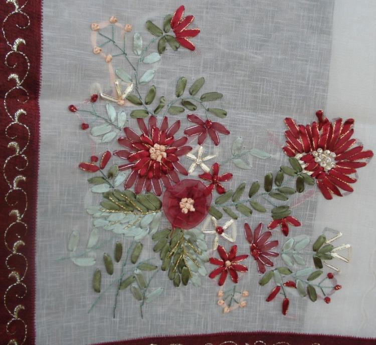 Вышивка лентами турецких мастериц
