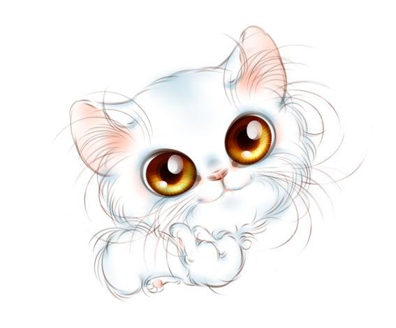котята с большими глазами картинки нарисованные лечила заговорами моя