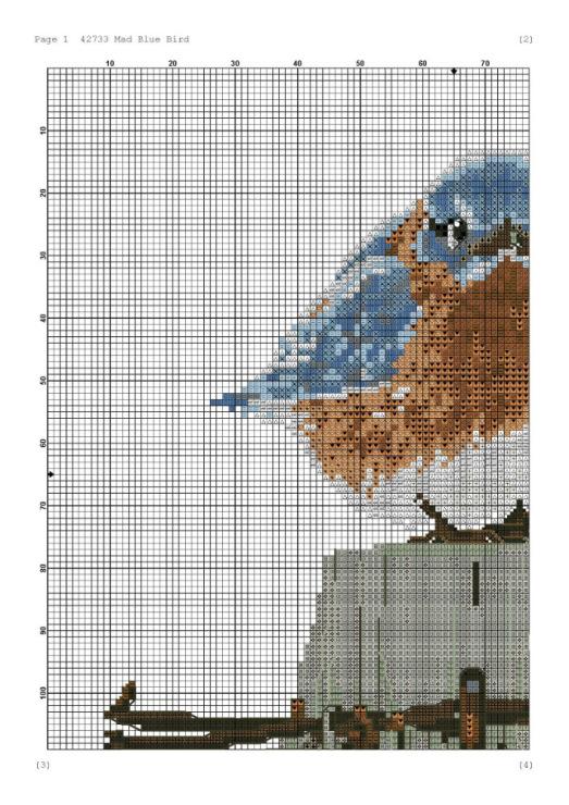 Схема вышивки крестом воробушки