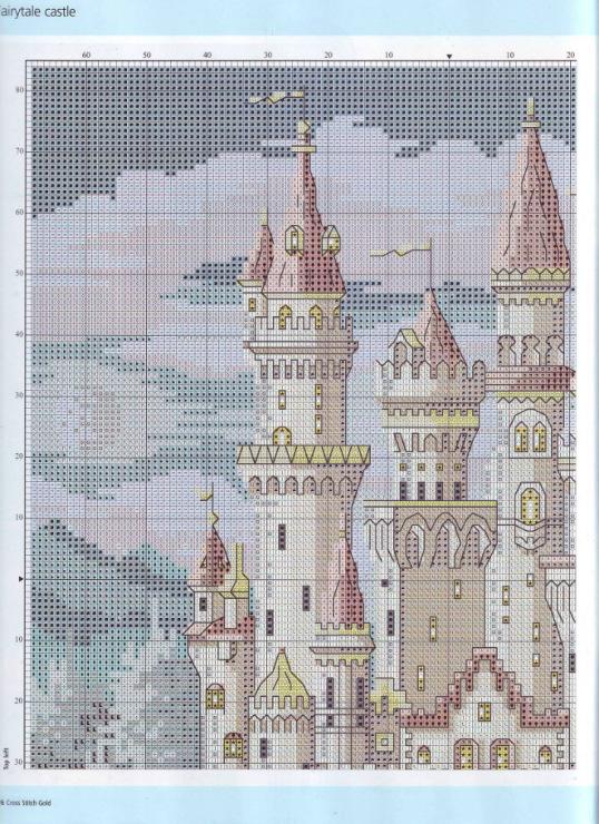 Схема для вышивки замок скачать