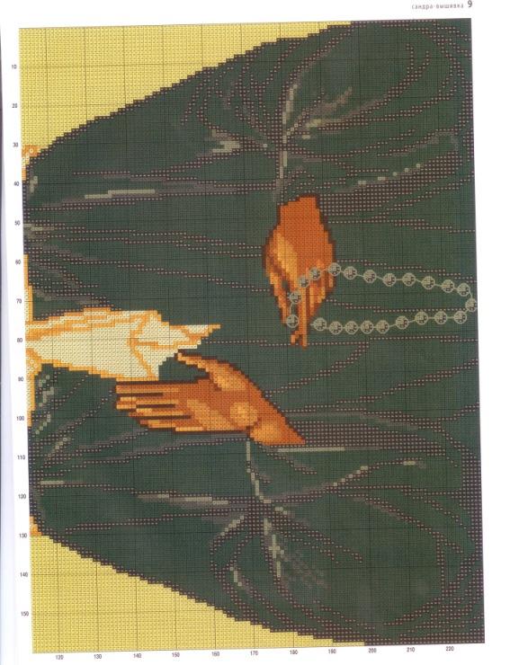 Схема вышивки крестиком иконы матроны московской 37