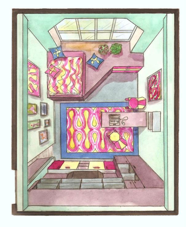 Комната рисунок сверху