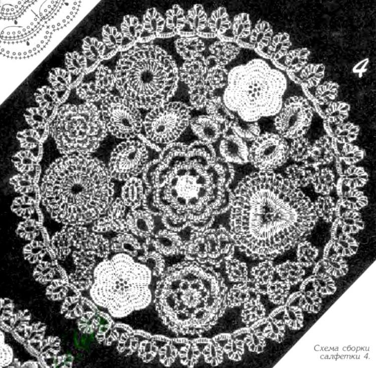 Ирландское кружево схемы фото салфеток