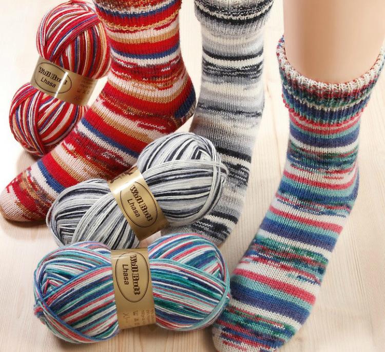 Вязание носков пряжа 7