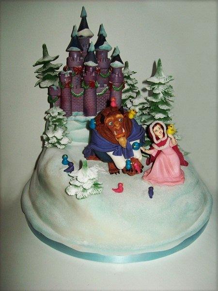 Красавица и чудовище торты фото