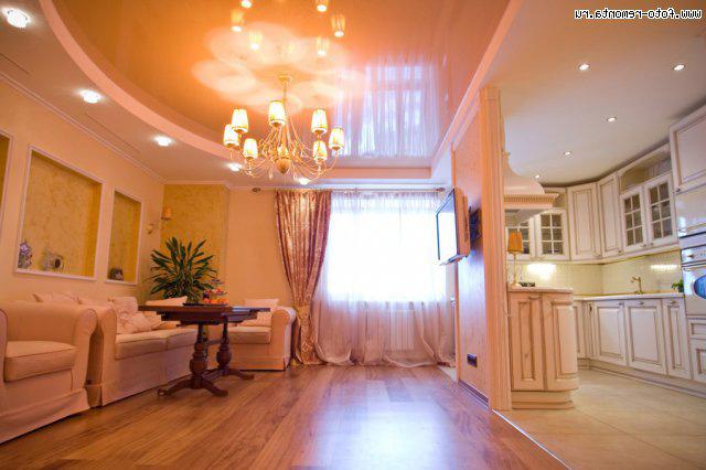 Красивый интерьер трехкомнатной квартиры фото
