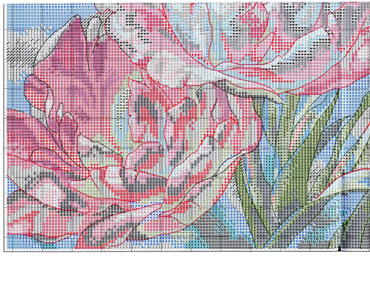 схема трио тюльпанов от dimensions