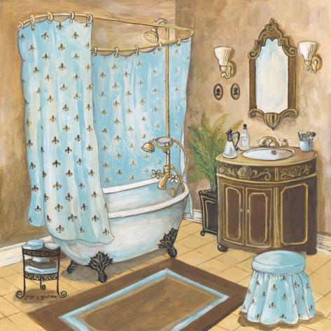 Декупаж ванных комнат
