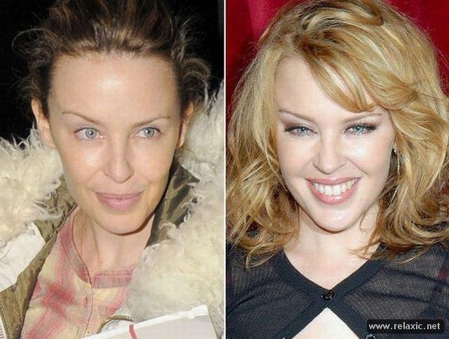 Фото звезд с и без макияжа