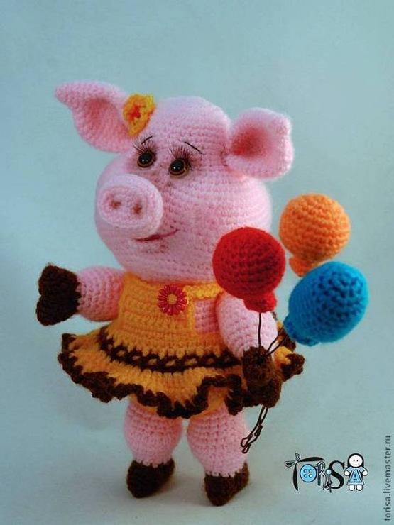 Вязание крючком свинья