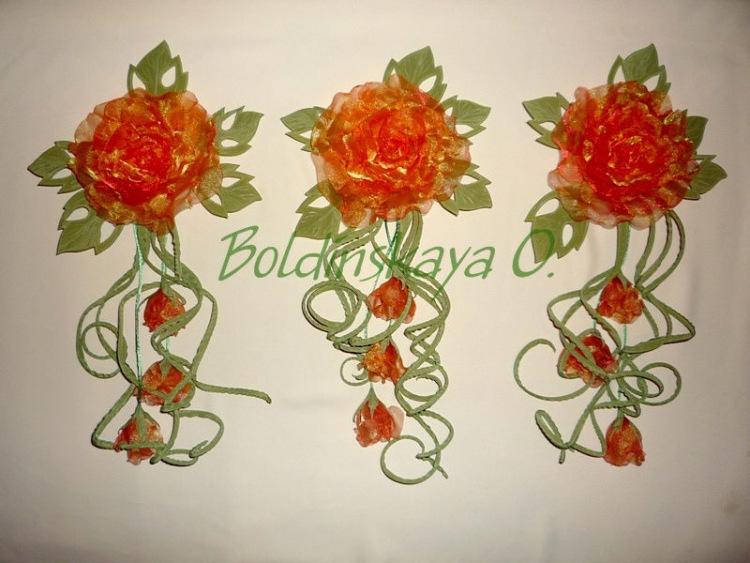 Как сделать цветок на шторы из ткани своими руками 80