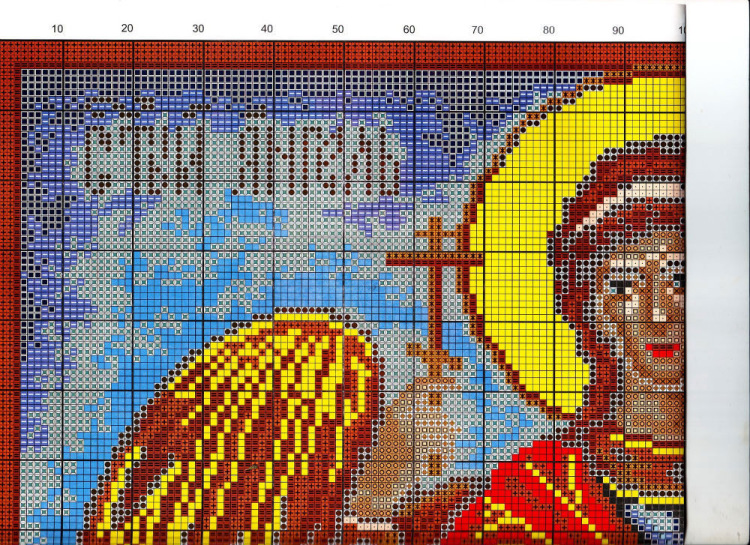 Схема вышивка с ангелом хранителем 637